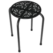Atlantic Daisy Design Metal Stool, 2 Pk (black)