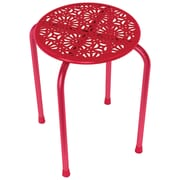 Atlantic Daisy Design Metal Stool, 2 Pk (red)