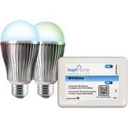 Bayit Home Automation LED Lighting Starter Kit With 2 LED Color-changing Light Bulbs & Wi-Fi Gateway