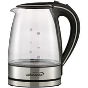 Brentwood Tempered Glass Electric Kettle, 1.7 Liter