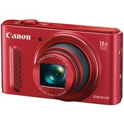 Canon PowerShot SX610 HS 202MP Compact Camera, 18x Optical Zoom, 45 - 81 mm Focal Length, Red