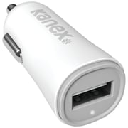 Kanex 2.4A V2 USB Car Charger, White (KANA1PT24V2)