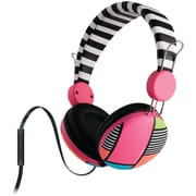 The Macbeth Collection Combo Headphones With Microphone & Flat Cable (mondrian Stripe)