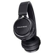 Urban Beatz Status Bluetooth Headphones with Microphone, Black