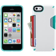 Speck iPhone 5c Candyshell Card Case (white/caribbean Blue)