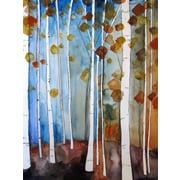Mai Autumn Fall Leaves by Christine Lindstrom Painting Print; 10'' H x 8'' W