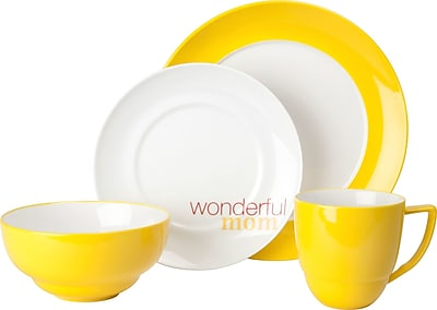 Waechtersbach Family ''Wonderful Mom'' 4 Piece Place Setting WYF078277696555