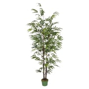 House of Silk Flowers Artificial Bamboo Tree in Pot; Black