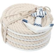 DEI Latitude 38 Nautical Rope Coaster (Set of 4); Blue