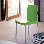 Florida Seating Pedrali Armless Stacking Chair; Green