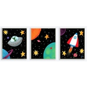 Stupell Industries The Kids Room Outer Space Triptych 3 pc by Njoy Art Graphic Art Plaque Set