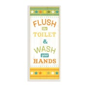 Stupell Industries Flush the Toilet and Wash Your Hands Skinny Rectangle Graphic Art Wall Plaque