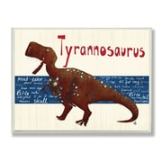 Stupell Industries The Kids Room Tyrannosaurus Dinosaur by Bealook Kids Graphic Art Plaque