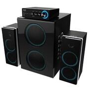 Eagle Tech Arion Legacy 3 Piece Deep Sonar 750 Bone Crushing Bass PC Speakers Set w/Dual Subwoofers