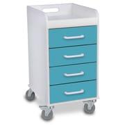 TrippNT 4 Drawer File Storage Cart; Bahamas Sea Teal
