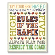 Stupell Industries The Kids Room Rules of the Game Typography Wall Plaque