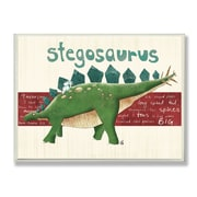 Stupell Industries The Kids Room Stegosaurus Dinosaur Wall Plaque