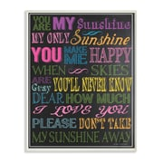 Stupell Industries The Kids Room You Are My Sunshine Textual Art Wall Plaque