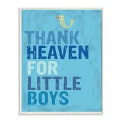 Stupell Industries The Kids Room Thank Heaven for Little Boys Typography Wall Plaque