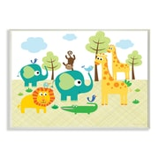 Stupell Industries The Kids Room Jungle Animals Graphic Art Wall Plaque