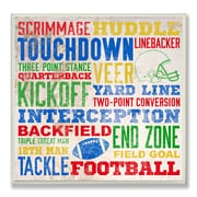 Stupell Industries The Kids Room Football Words Typography Textual Art Plaque