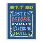 Stupell Industries The Kids Room Superhero Rules Textual Art Wall Plaque