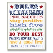 Stupell Industries The Kids Room Rules of the Game Blue Outline Typography Wall Plaque