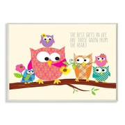 Stupell Industries The Kids Room The Best Things in Life Owl Wall Plaque