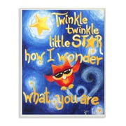 Stupell Industries The Kids Room Twinkle Twinkle Little Star Textual Art Wall Plaque