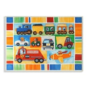 Stupell Industries The Kids Room Doggies Driving Vehicles Wall Plaque