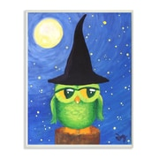 Stupell Industries Owl in a Wizard Hat Painting Print Plaque