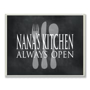 Stupell Industries Nana's Kitchen is Always Open Chalkboard-Look Textual Art Wall Plaque