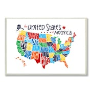 Stupell Industries The Kids Room USA Map Wall Plaque