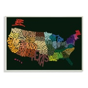 Stupell Industries The Kids Room USA Map Typography Wall Plaque