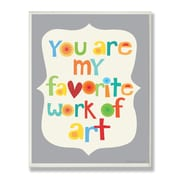 Stupell Industries The Kids Room Favorite Work of Art Typography Wall Plaque