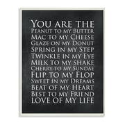 Stupell Industries You are The Love of My Life Chalkboard Textual Art