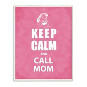 Stupell Industries Keep Calm and Call Mom Pink Chalkboard Look Textual Art