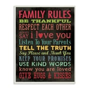 Stupell Industries Family Rules Chalkboard Look Typography Wall Plaque