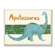 Stupell Industries The Kids Room Apatosaurus Dinosaur Wall Plaque