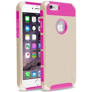 Insten® Hard Hybrid Plastic Silicone Cover Case for Apple iPhone 6 Gold/Hot Pink (1939408)