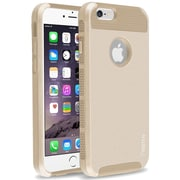 Insten® Hard Dual Layer Plastic Silicone Cover Case for Use with Apple iPhone 6, Gold (1939405)