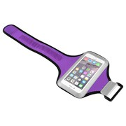 Insten® Handsfree Sports Armband Case for Use with Apple iPhone 6/6S, Samsung Galaxy S6 and S6 Edge, Purple/Silver (1932817)