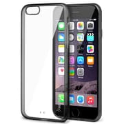 Insten® Bumper Rubber Case for Use with Apple iPhone 6 Plus, Clear/Black (1963240)