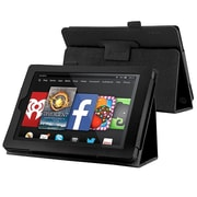 "Insten® 1989180 Book-Style Leather Fabric Cover Case with Stand for Amazon Kindle Fire HD 7"" (2014) Black"