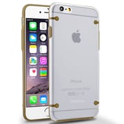 Insten® Gel Case for Apple iPhone 6 Clear/Gold (1932702)
