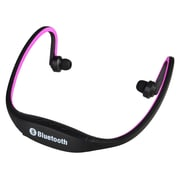 Insten® 1955636 Universal Wireless Bluetooth Sports Headset Headphone with Microphone Hot Pink
