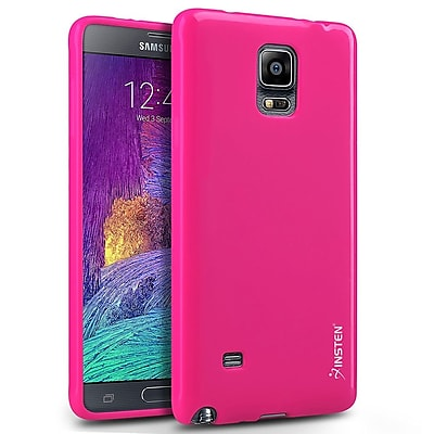Insten Gel Case For Samsung Galaxy Note 4 Hot Pink 1957988