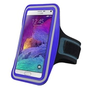 Insten® Hands-Free Sports Armband Case for Use with Apple iPhone 6/6S Plus, Samsung Galaxy Note 3 and 4, Blue (2037116)