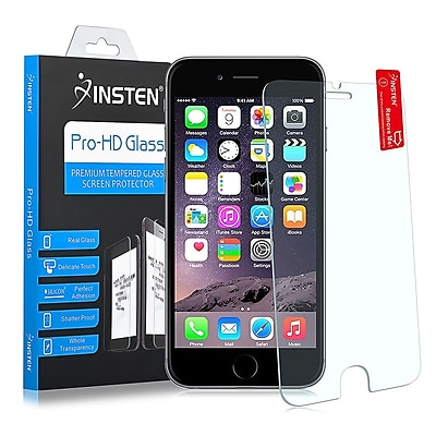 Insten Clear Tempered Glass LCD Screen Protector Film Cover for Use with Apple iPhone 6S Plus (1939413)
