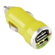 Insten® Universal 2-Port USB 2A Car Charger Adapter for Smartphones and Tablets Yellow (1405397)